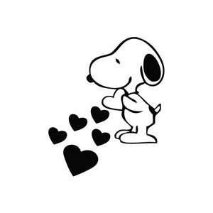 Snoopy Love Hearts   Cartoon Decal Vinyl Car Wall Laptop
