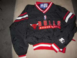 VTG CHICAGO BULLS AUTHENTIC PULLOVER by STARTER sz S snapback hat
