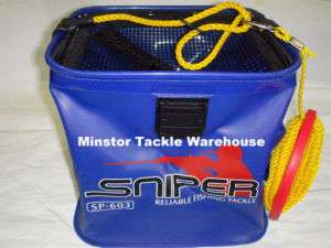 SNIPER SP603 EVA Live Bait Fishing Bucket (BLUE)