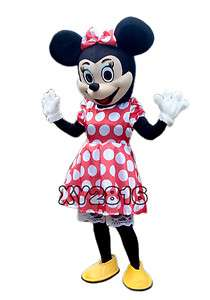 Professional Minnie Mouse Mascot Costume Adult Size