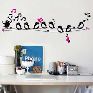 Singing in the Tree Art Mural Vinyl Wall Decal Sticker Decor