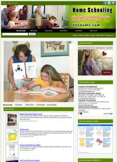 Money Making Home Schooling Affiliate Business Website