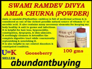 DIVYA AMLA POWDER HYPERACIDITY CONSTIPATION Gooseberry