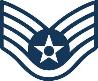 USAF AIR FORCE STAFF SERGEANT SSGT E 5 RANK INSIGNIA CHEVRON STICKER