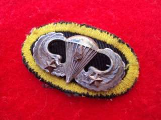 RARE WWII 327th Glider PIR Airborne sterling jump wings SPEARHEAD