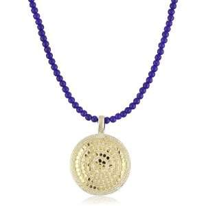 Anna Beck Designs Lombok Lapis Medallion Necklace