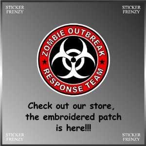 Resident Evil Zombie Outbreak Response Biohazard Team Vinyl Decal