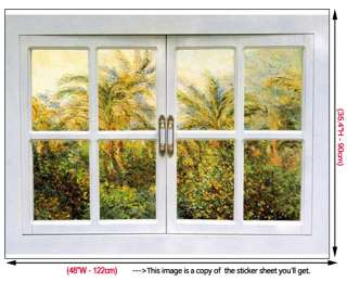 Window View Mural Adhesive Wall STICKER Removable Decal