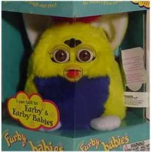 Furby Babies   Yellow with Blue Tummy and Pink Mohawk