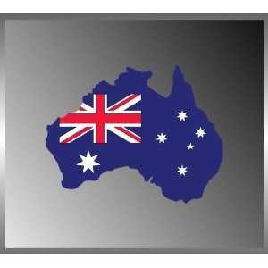 Australia Australian Flag Vinyl Decal Bumper Sticker 4 X 5