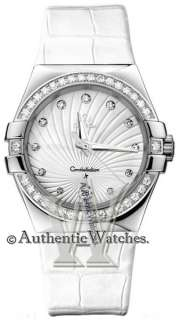 NEW OFFICIAL OMEGA CONSTELLATION LADIES DIAMOND WATCH  ► 123.18.35