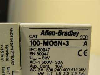 18034 NEW Allen Bradley 100 M05N3 Contactor Mini 16 20A