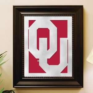 Oklahoma Framed Laser Cut Metal Wall Art