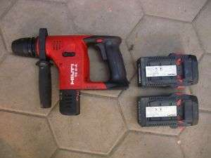 HILTI TE 6 A 36V HAMMER DRILL + 2 LITHIUM BATTERY 2.4Ah