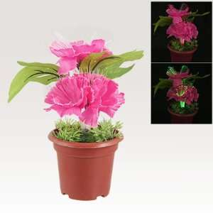 Power 5 Colors LED Fiber Optic Flower Deep Pink