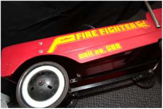 FREE SHIPPING!!! VINTAGE AMF FIRE FIGHTER PEDAL CAR !! truck GREAT
