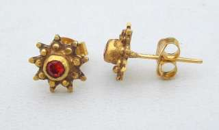 ANCIENT BELLYDANCE ETHNIC TRIBAL 18 CT OLD GOLD EARRING
