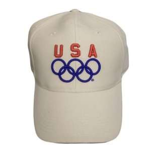 LONDON OLYMPICS USA WEEKENDER BASEBALL HAT CAP KHAKI