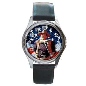John Wayne American Cowboy Leather Watch New