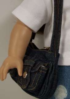 DENIM Jean Purse Doll Clothes FOR American Girl♥