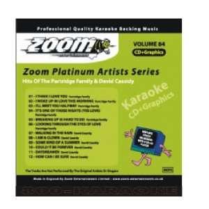 Family David Cassidy 12 Song Karaoke CDG Zoom Entertainment Music