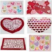 Valentines Day Heart Love Placemats 6 Styles NEW Upick