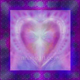 SACRED HEART of LOVE Spiritual Healing Angelic Painting Glenyss Bourne