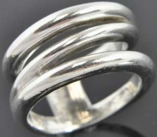 Tiffany & Co Sterling Silver Open Wide Spiral Band Ring Sz 6 NR
