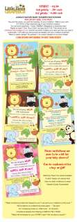 Jungle Safari Custom Baby Shower Invitations   UPRINT