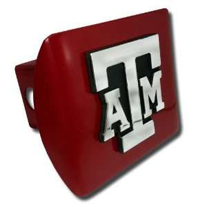 Texas A&M University Aggies Maroon with Chrome ATM State Shape