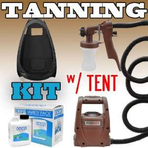 Sunless Spray Mate Tanning KIT BLK TENT Machine Airbrush Tan Air Brush