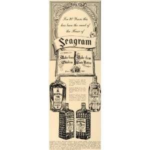 1938 Ad Seagram VO Canadian Whisky Alcoholic Beverages   Original