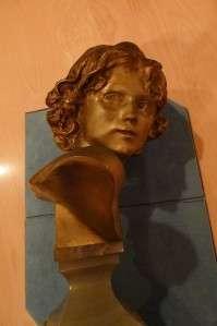 Jean Antoine Injalbert Bronze SculptureSmiling Female