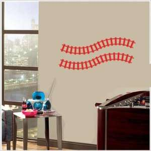 2 Curved Train Tracks Wall Stickers Decals Graphics Art