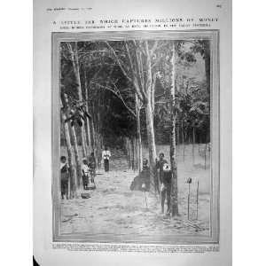 1909 INDIA RUBBER GATHERERS BATU MALAY KIPLING ROBINSON