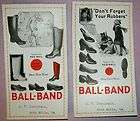 1930s BALL BAND SHOES RUBBERS ARCH MILLS VIRGINIA OBEN