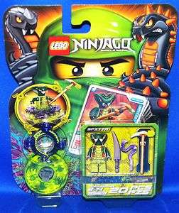 LEGO NINJAGO MASTERS OF SPINJITZU 9569 SPITTA GREEN NINJA MINI FIGURE