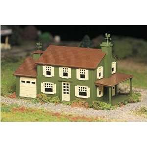 Two Story House Plasticville USA Building Kit Toys