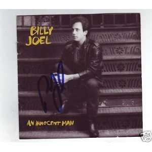 BILLY JOEL signed *AN INNOCENT MAN* cd cover W/COA