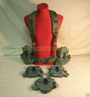 US Army M PISTOL Belt /Suspender (5) Ammo Pouch LOT VG