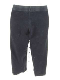 JUICY COUTURE Black Teri Cloth Crop Capri Pants Size M