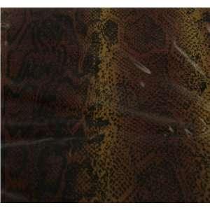 Brown Snake Skin Vinyl Shower Curtain
