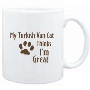 Mug White  MY Turkish Van THINKS IM GREAT  Cats Sports