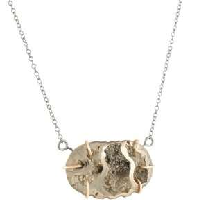MELISSA JOY MANNING  Pyrite Ammonite Necklace Jewelry