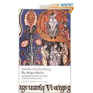 Anselm of Canterbury The Major Works (Oxford Worlds