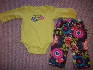 LOT* BABY GIRL CLOTHES OUTFITS 3 6 months Carters Old Navy & OshKosh