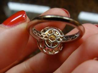 Yellow & White DESIGNER DIAMOND Engagement Ring 14K TwoTone