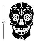 SUGAR SKULL VINYL DECAL sticker wall art car decor day of the dead