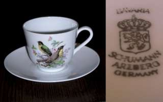 ANTIQUE SCHUMANN BAVARIA ARZBERG GERMANY Cup & Saucer