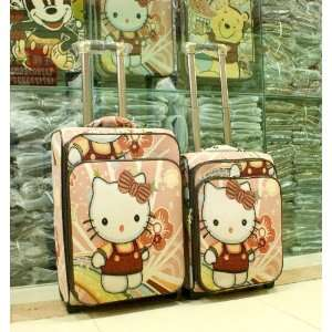 24 Inch/hello Kitty Pink Red Cover Luggage Bag Baggage